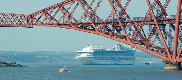Forth Bridge cruise ship