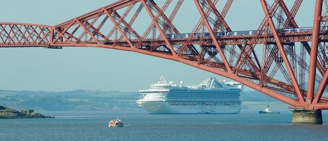 Forth Bridge cruise ship