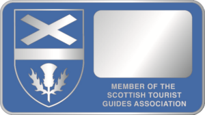 Scottish guiding blue badge